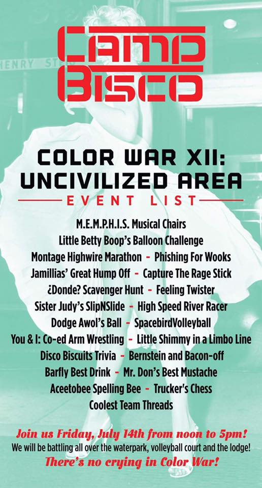 Color War XII Events